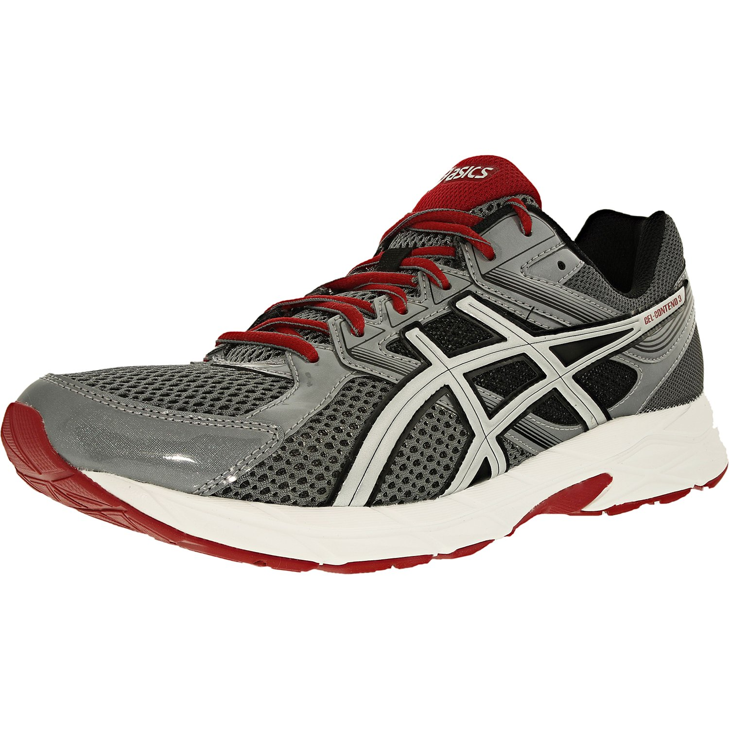 Asics Men's Gel-Contend 3 Titanium/Silver/Red Ankle-High Running Shoe - 8M