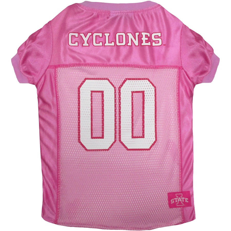 Pets First College Iowa State Cyclones Pet Pink Jersey, 4 Sizes Available