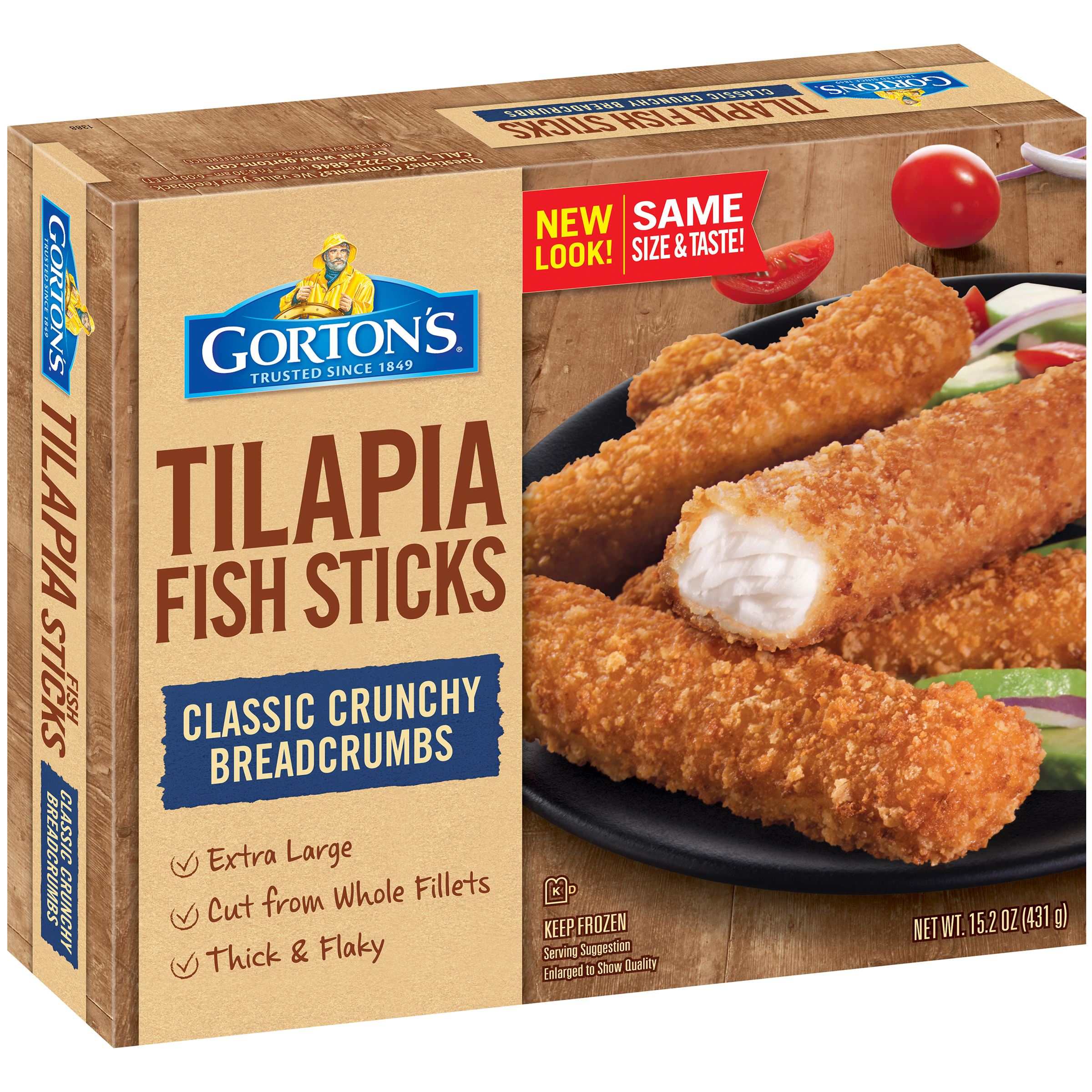 Gorton's® Tilapia Extra Large Cut Fish Sticks 15.2 oz. Box