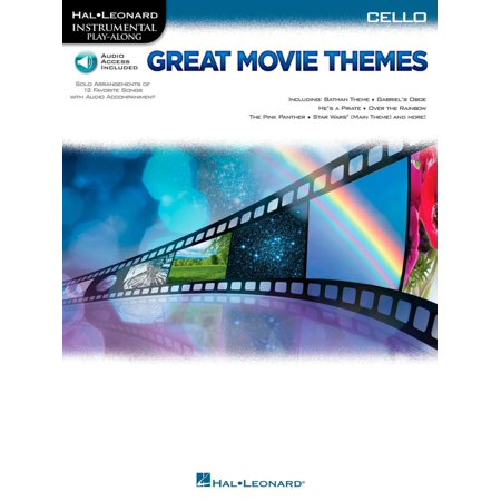 Hal Leonard Great Movie Themes For Cello   Instrumental Play Along  Book Online Audio