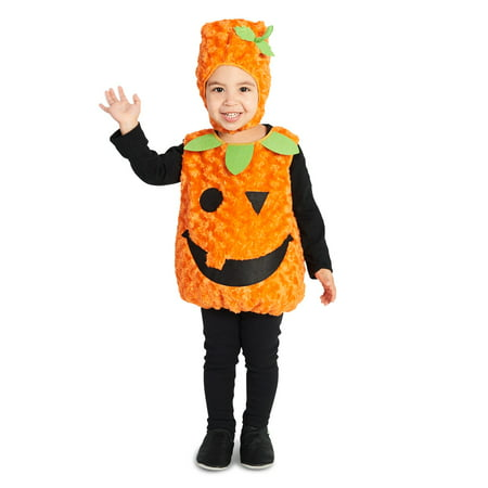 Plush Belly Pumpkin Toddler Costume - Homemade Toddler Pumpkin Halloween Costume