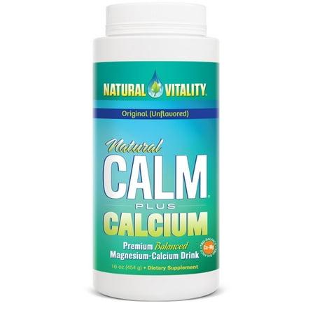 Fiber Supplement Plus Calcium - Natural Vitality Original Natural Calm Plus Calcium Dietary Supplement, 16 oz