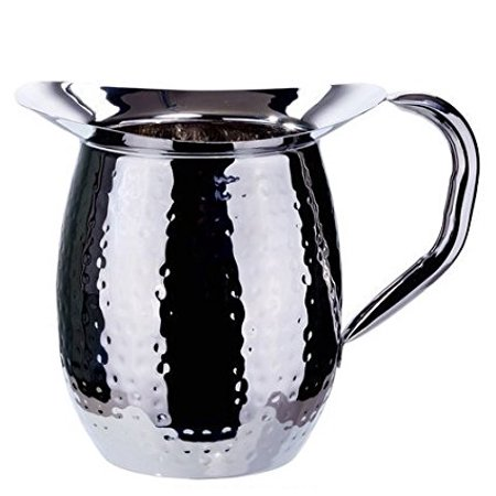 3 Quart Bell (Winco WPB-3CH, 3-Quart Stainless Steel Bell Pitcher with Ice Guard,Sophisticated Carafe, Hammered )