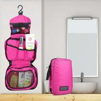 FAGINEY Makeup Bag, Cosmetic Storage Bag,Portable Foldable Zipper Cosmetic Storage Bag Large Capacity Travel Makeup Organizer
