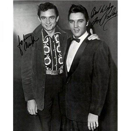 - Johnny Cash & Elvis Presley Penned 8 X 10 Photo