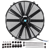 16inch 3000cfm Reversible Electric Cooling Radiator Fan Push Pull Mounting Kits