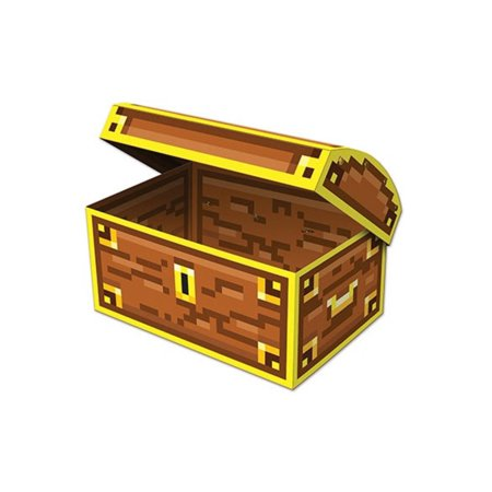 Pack of 12 Yellow and Brown 8-Bit Treasure Chest Novelty Party Decorations 8