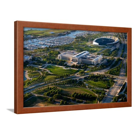 Aerial View of the Field Museum and Soldier Field, Chicago, Cook County, Illinois, Usa Framed Print Wall Art By Green Light Collection