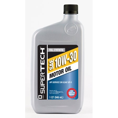 Supertech full synthetic 10w30 motor oil 1 quart for Top rated motor oil synthetic