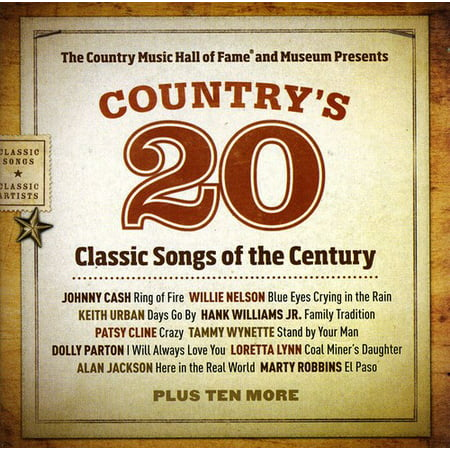 Country's 20 Classic Songs Of The Century (CD)](Halloween 20 Scary Songs)