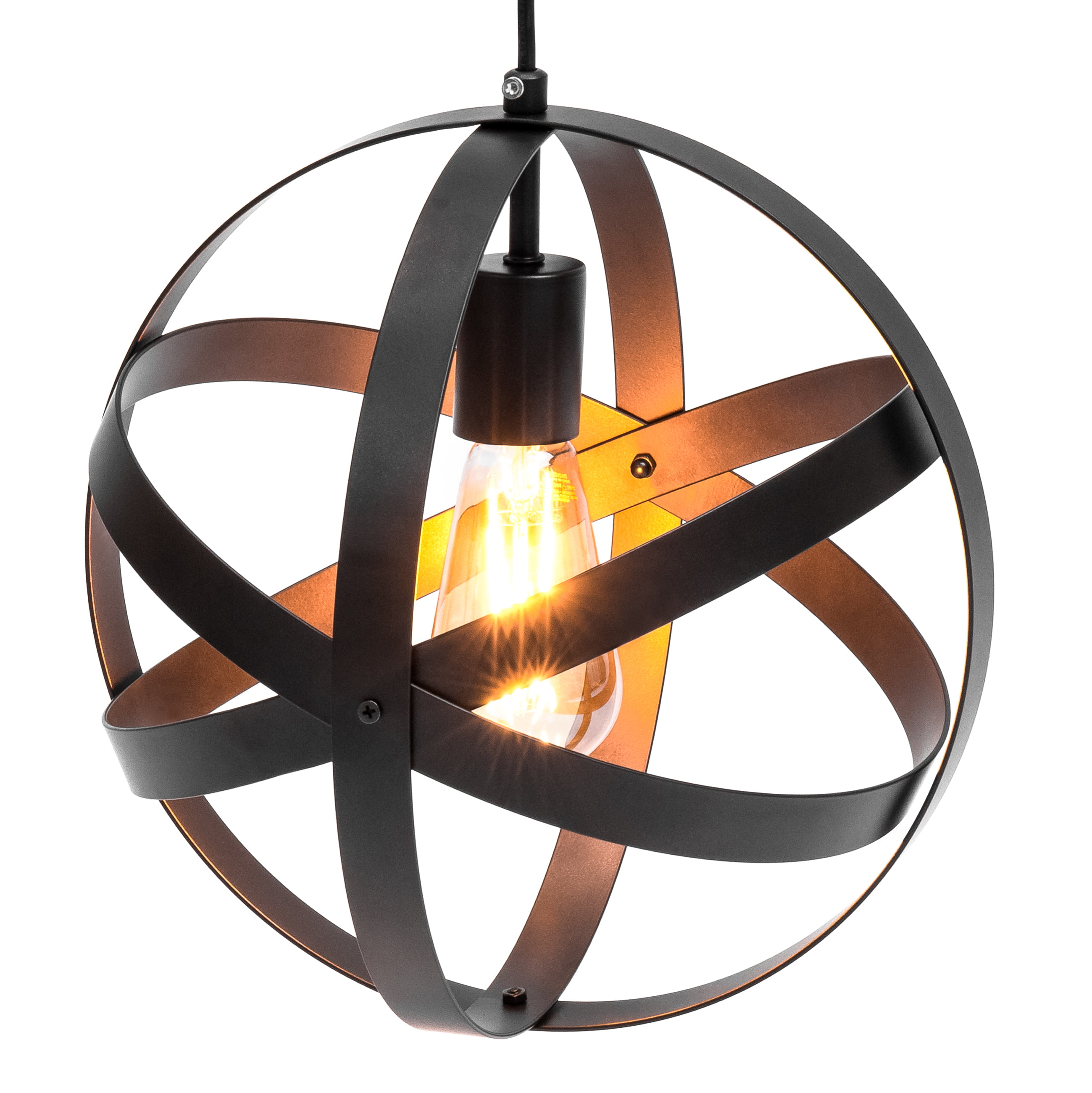 Best Choice Products Hanging Metal Spherical Pendant Chandelier Lighting Fixture (Bronze) by Best Choice Products