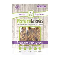 "Nature Gnaws Braided Bully Sticks 5-6"", 10 Count"