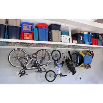 Saferacks overhead garage storage combo kit two 4 ft x for Kit da garage a 4 canali
