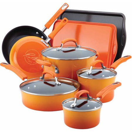 Rachael Ray Hard Enamel Nonstick 12-Piece Cookware Set