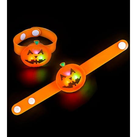 Lumistick Halloween LED Jack-O-Lantern Snap Bracelet