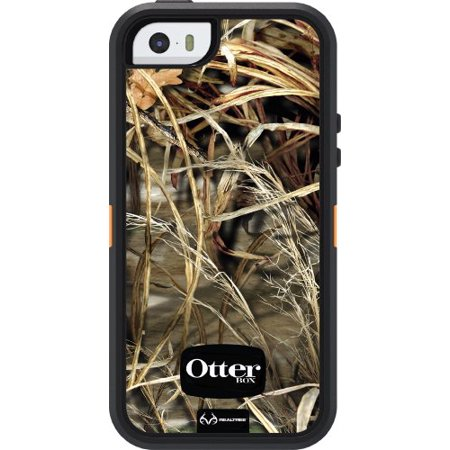 OtterBox DEFENDER SERIES Case for iPhone 5/5s/SE - Retail Packaging - REALTREE MAX 4HD BLAZED (BLAZE ORANGE/BLACK/MAX 4HD DESIGN) (Wood Tree Iphone 5 Case)