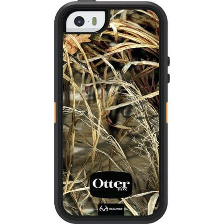 OtterBox DEFENDER SERIES Case for iPhone 5/5s/SE - Retail Packaging - REALTREE MAX 4HD BLAZED (BLAZE ORANGE/BLACK/MAX 4HD DESIGN)