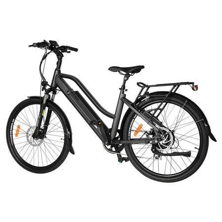 "T4B Pulse Low Step City Bike - Bafang 350W Brushless Electric Motor, 8 Speed, Samsung Li-Ion Battery 36V13Ah, 26"" Tires - Black - image 3 de 12"