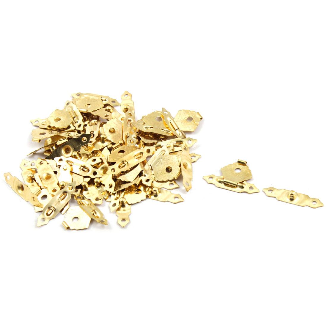 Wood Jewelry Vintage Box Latch Case Hasp Pad Lock Hook Hinge Gold Tone 25 Sets