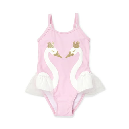 833968b25d6 The Children's Place - Swan One-Piece Swimsuit (Baby Girls ...