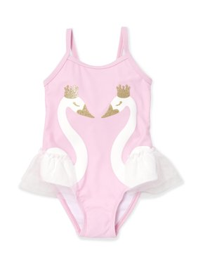 8b50e82aecc75 Product Image The Children's Place Swan One-Piece Swimsuit (Baby Girls &  Toddler ...