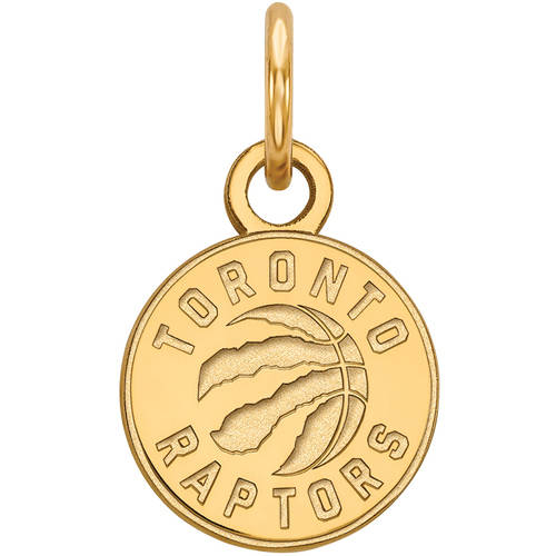 LogoArt NBA Toronto Raptors 14kt Gold-Plated Sterling Silver Extra Small Pendant