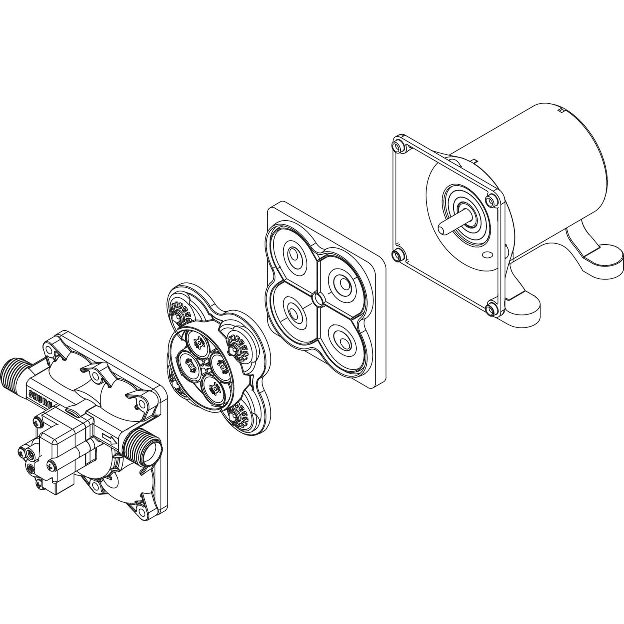 Shurflo 94 800 03 Model 4008 Repair Parts Check Valve