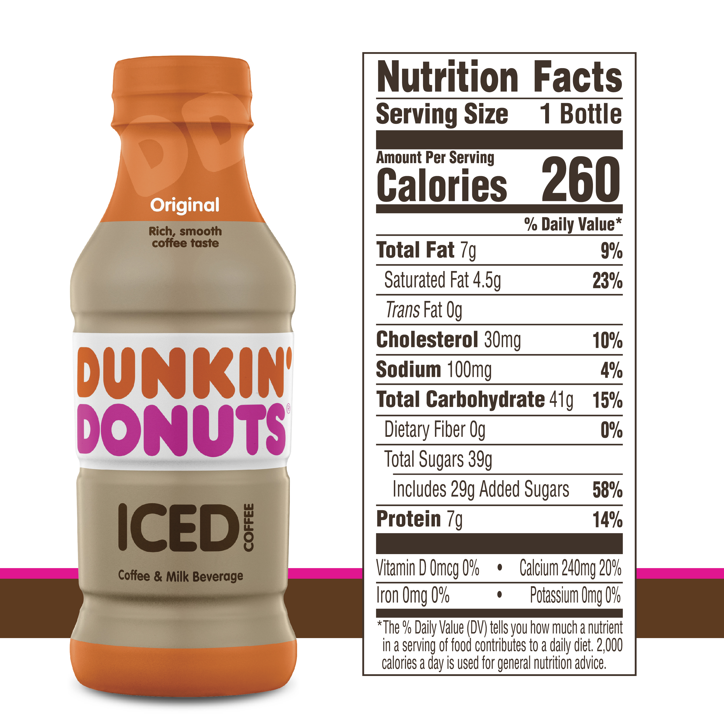 Calories In Medium Dunkin Donuts Coffee With Cream And ...