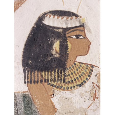 - Wall Painting of Daughter of Nakht from Hunt Scene in the Tomb of Nakht Print Wall Art By Walter Rawlings