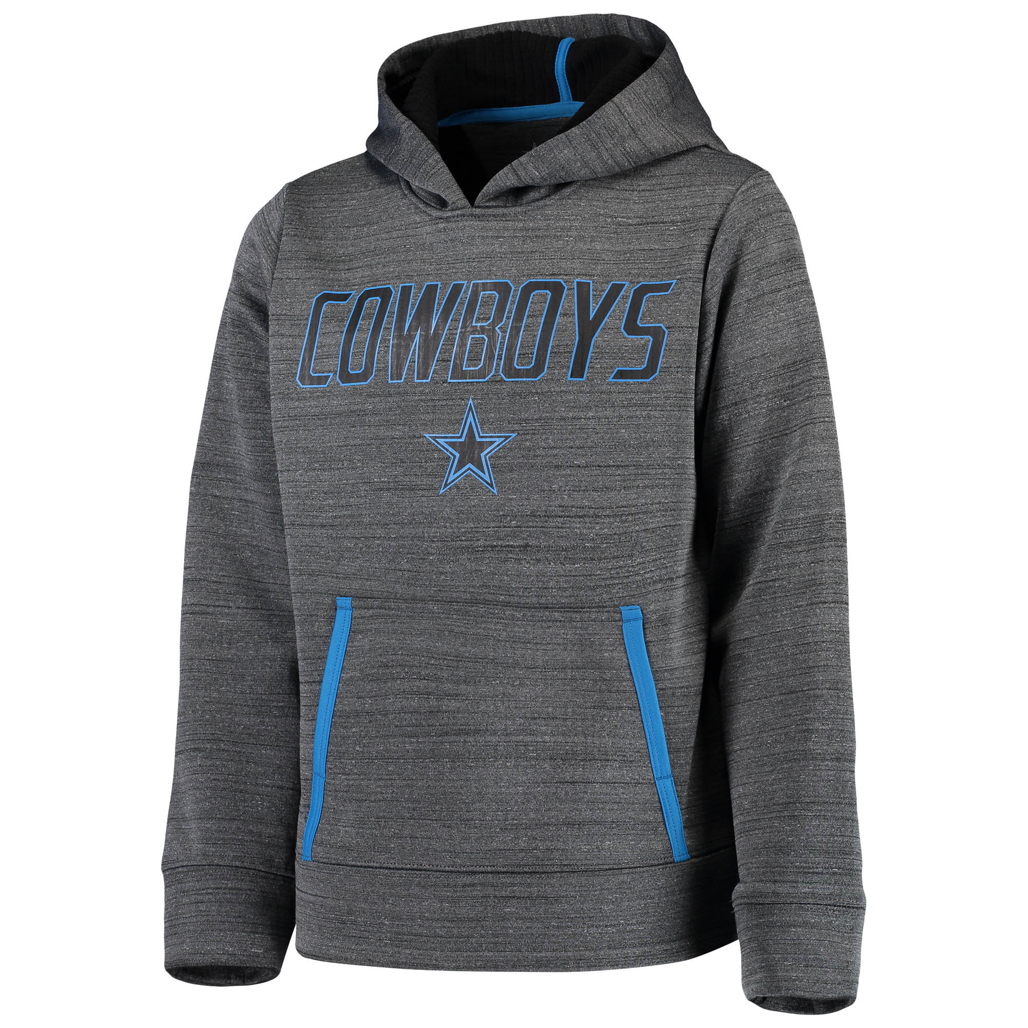 Youth Charcoal Dallas Cowboys Jinx Pullover Hoodie
