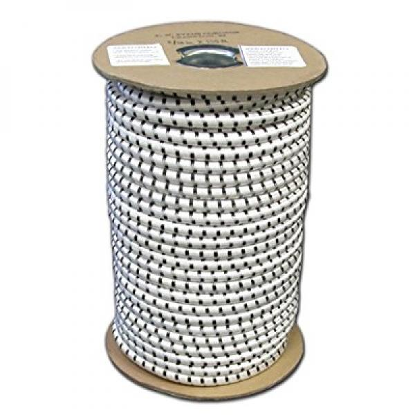 T. W.  Evans Cordage SC-316-100 . 1875 inch x 100 ft.  Elastic Bungee Shock Cord in White and Black