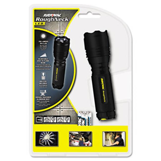 Ray-O-Vac RNT3AAAB LED Aluminum Flashlight, 3 AAA, Black