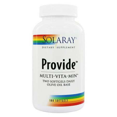 Solaray Provide Multi-Vita-Min Softgels, 180 (Best Solaray Multivitamin)