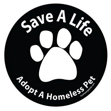 Save A Life Adopt a Homeless Pet Magnet Dog Gift Car