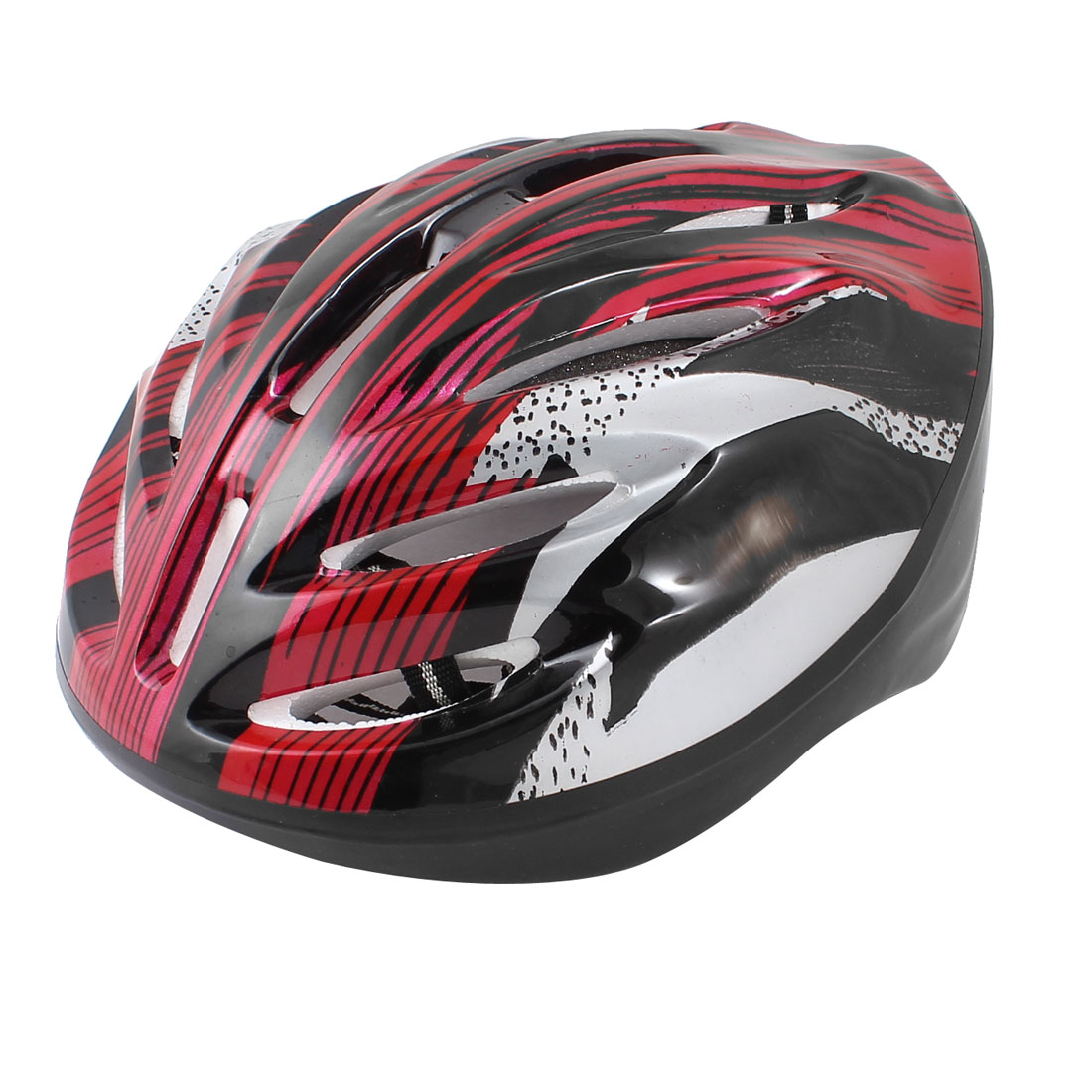 Unique Bargains Women Men Skateboard Skiing Racing Bicycle Bike Sports Helmet Red Black by