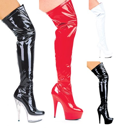 Fantasy 6'' Pointed Stiletto Heel Thigh High Stretch Boots