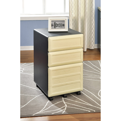 ameriwood home pursuit mobile file cabinet light browngray