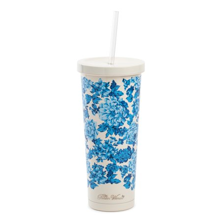 The Pioneer Woman Heritage Floral 24-Ounce Double Wall Vacuum Insulated Stainless Steel Tumbler ()
