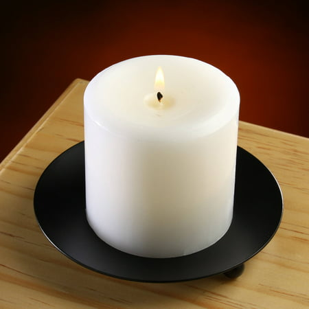 Mainstays Small Round Pillar Candle Holder Plate Base Pillar Candle Holder