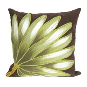Liora Manne 4168/19 Palm Fan Chocolate 20'' Sq Pillow