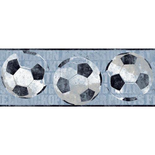 York Wallcoverings ZB3173BD Soccer Ball Border