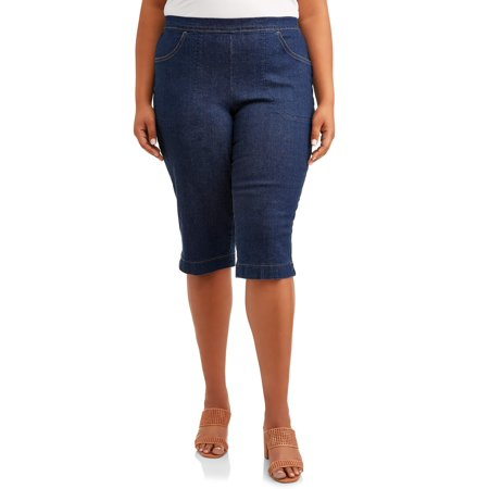 Just My Size Women's Plus-Size 2 pocket Pull-On Capri (6 Pocket Capris)