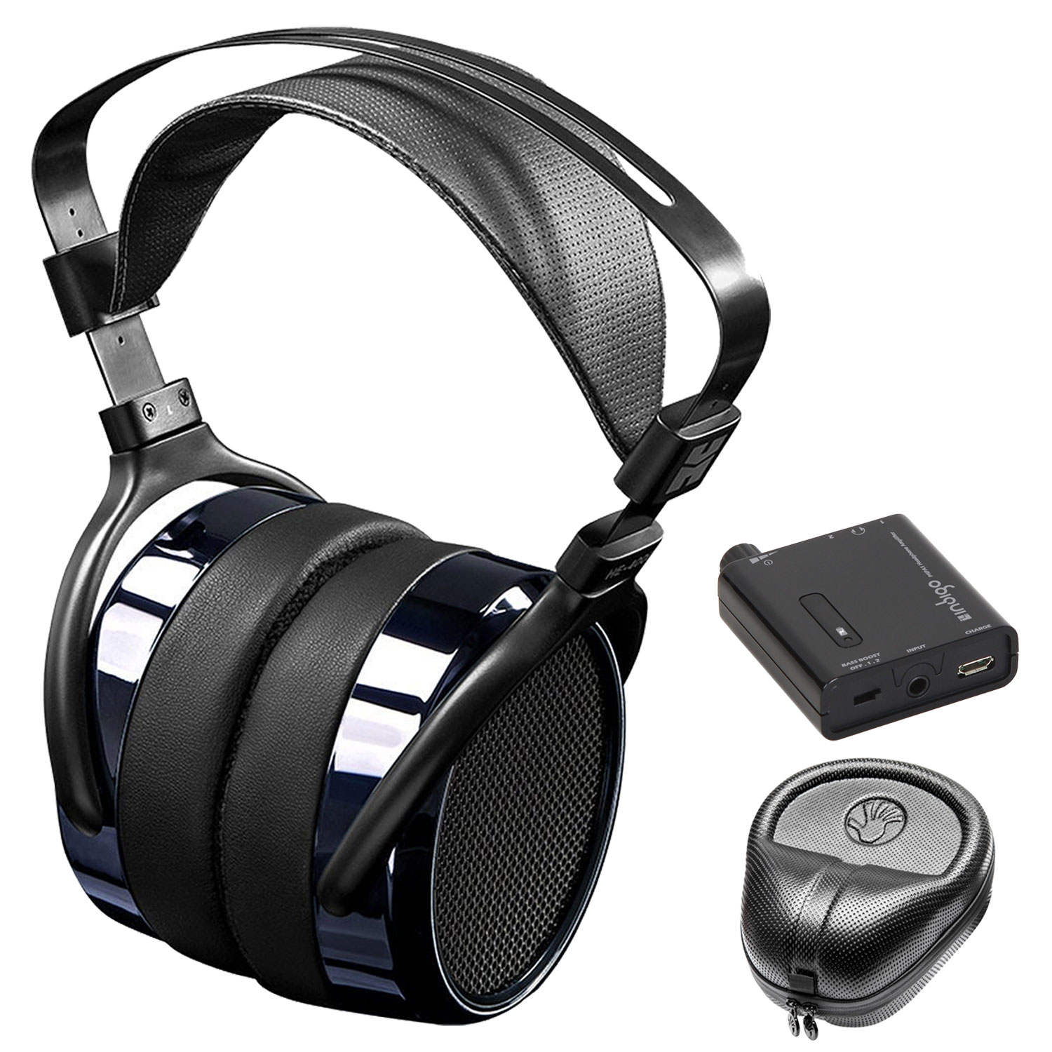 HIFIMAN HE400i Special Edition Over Ear Planar Magnetic Headphones w/ Amplifier and Case