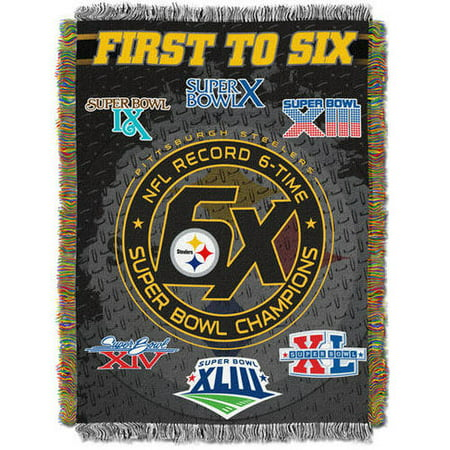 "NFL 48"" x 60"" Commemorative Series Tapestry Throw, Steelers"