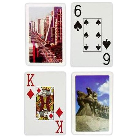 - Bridge Size Jumbo Index Playing Cards (Sao Paulo Setup), 100% PVC plastic, these cards will last for years outlasting paper cards up to 500.., By Copag