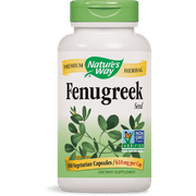 Natures Way Fenugreek Seed Non-GMO Project Verified TRU-ID Certified Vegetarian 180 Ct