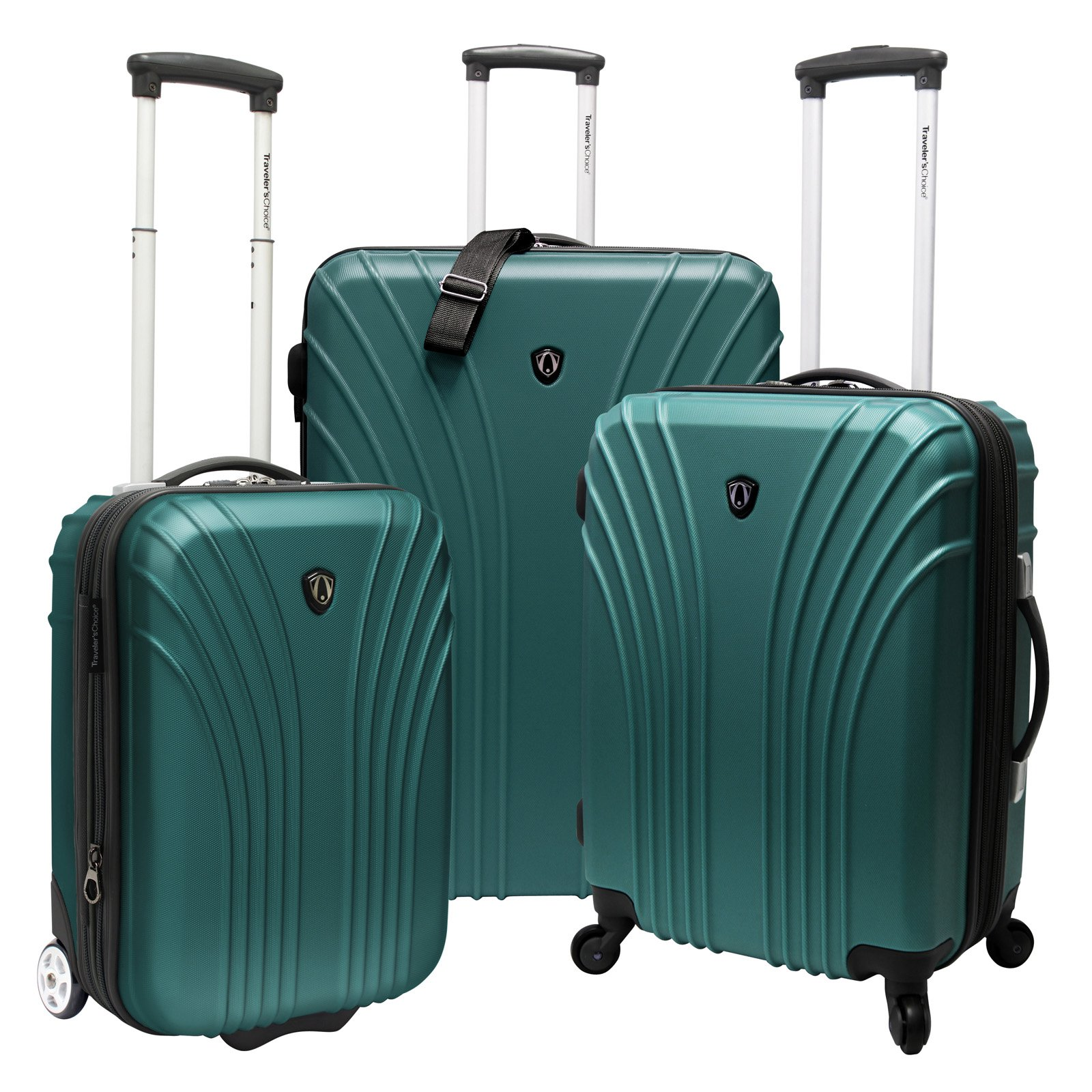 Travelers Choice Cape Verde 3-Piece Ultra-Lightweight Hardsided Expandable Spinner Luggage Set