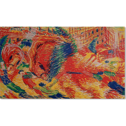 "Trademark Fine Art ""The City Rises, 1911"" Canvas Art by Umberto Boccioni"