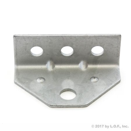 (1) Boat Trailer Top Angle Galvanized Swivel Top Angle Bracket for Bunk Bracket ()