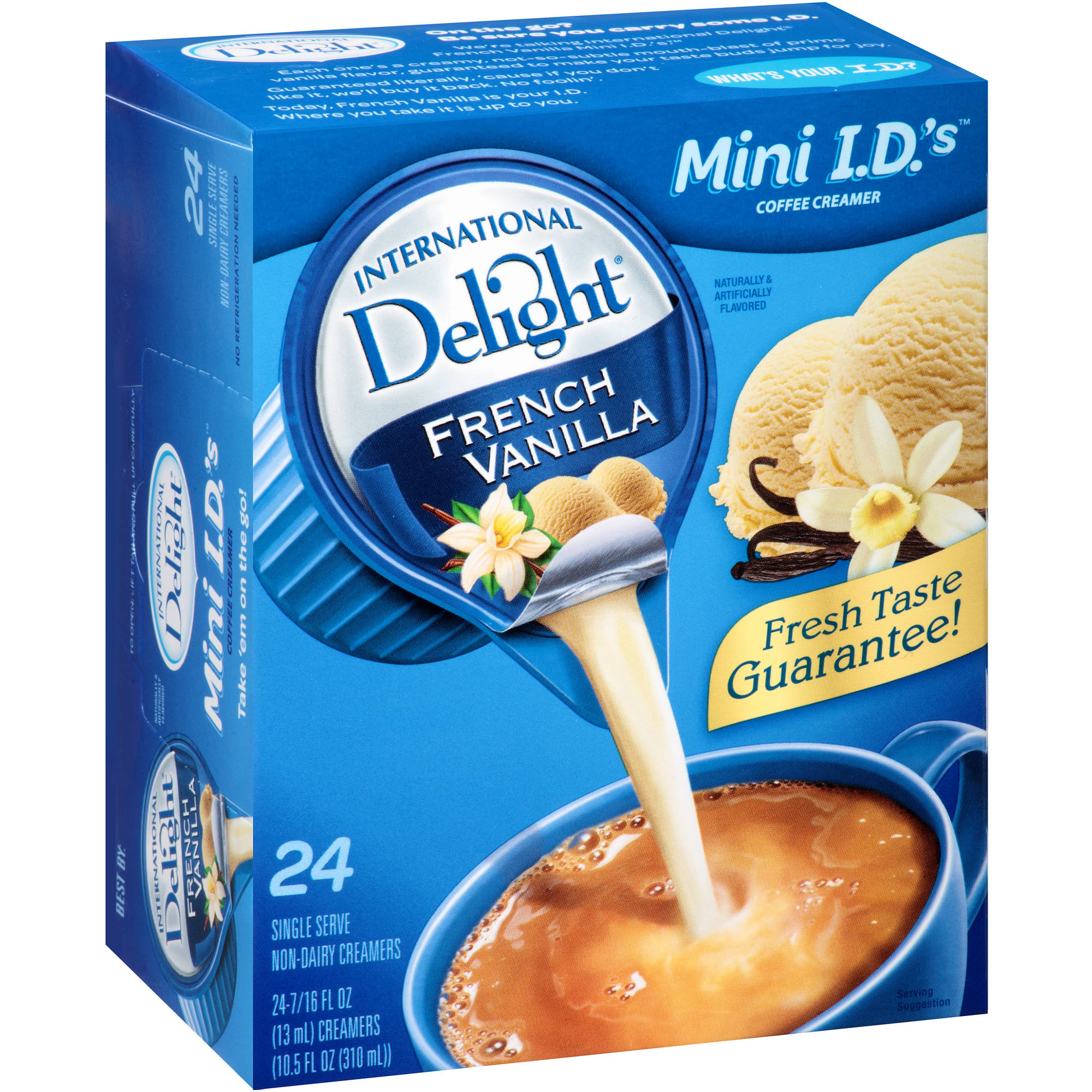 International Delight French Vanilla Coffee Creamer Singles, 24 count